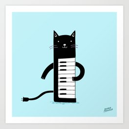Keyboard Cat Art Print