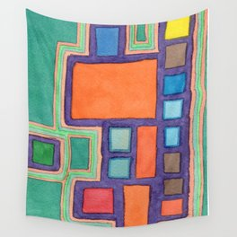 Modern Earthquake Safe Home Wall Tapestry
