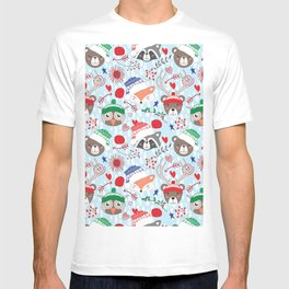 Christmas animal smiles T-shirt