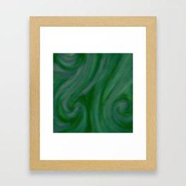 Green SWIRL Framed Art Print