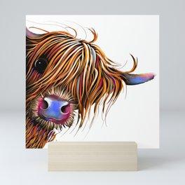 HiGHLaND CoW PRiNT SCoTTiSH ' SuGaR LuMP ' BY SHiRLeY MacARTHuR Mini Art Print