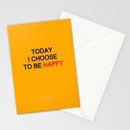 Today I Choose to be Happy Stationery Cards