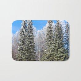 Frozen forest Bath Mat
