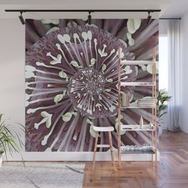 Hellebore Spiral - Abstract Photographic Art by Fluid Nature Wall Mural