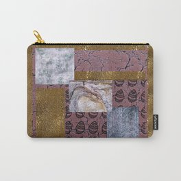 purple texture and Doodle Carry-All Pouch