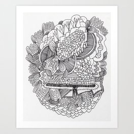Abstract Pattern Clump Art Print