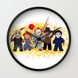 Horror Shirt, Horror Movie Shirt, Horror Movie Horror, Horror Movie, Scary cards, Halloween   Wall Clock