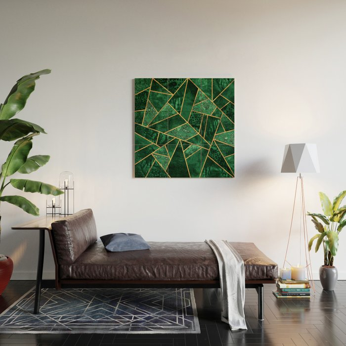 Deep Emerald Wood Wall Art