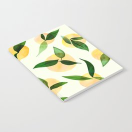 Sunny Lemon Print ~ Yellow and Green Notebook