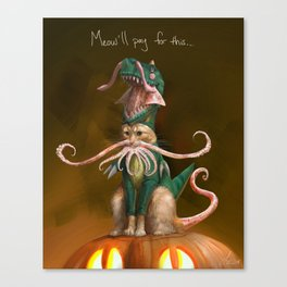 Happy Squittenween! Canvas Print