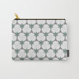 Decorative Grey White Pastel Green Pattern Carry-All Pouch