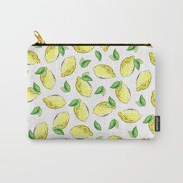 Lemon Watercolor Pattern Carry-All Pouch