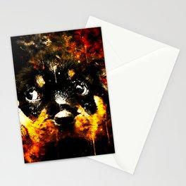 rottweiler puppy dog ws std Stationery Cards