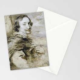 Anthony van Dyck - Portrait of Lucas van Uffel or Daniel Nys Stationery Cards