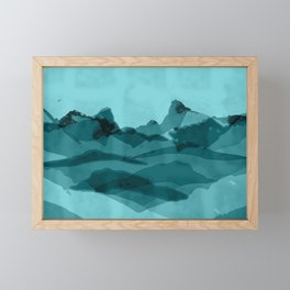 Mountain X 0.1 Framed Mini Art Print