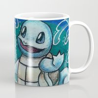 squirtle Mugs featuring 7 - Squirtle by Lyxy