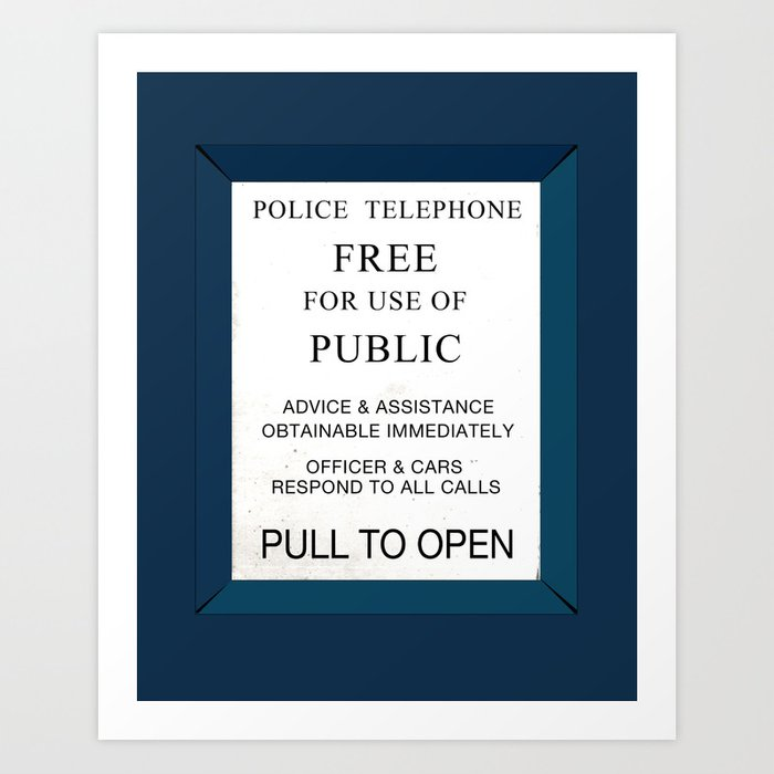 Doctor Who (Tardis Door) Police Box Art Print  sc 1 st  Society6 & Doctor Who (Tardis Door) Police Box Art Print by soulthrow | Society6 pezcame.com