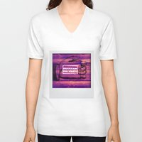 sarcasm V-neck T-shirts featuring Sarcasm by Li9z