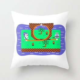 Overworld: Loop Throw Pillow