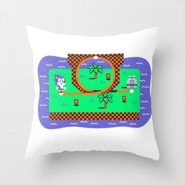 Overworld: Loop Throw Pillow