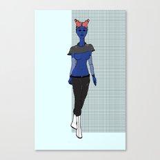 Galactic Street Queen; Martian Babe Canvas Print
