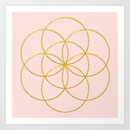 Glitter Seed of Life Art Print