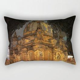Dresden frauenkirche church saxony Rectangular Pillow