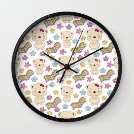 Cute bears Wall Clock