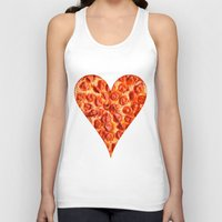 pizza Tank Tops featuring PIZZA by Good Sense