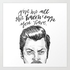 Ron Swanson. [Parks and Recreation] Art Print