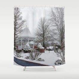 Gazebo and Cannon Shower Curtain