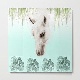 Mystery Garden - Horse drawing Metal Print
