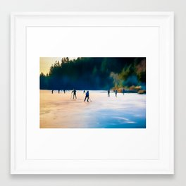 Winter on Cranberry Lake Framed Art Print