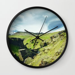 Iceland - Ascending Wall Clock