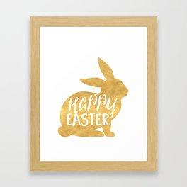HAPPY EASTER BUNNY Framed Art Print