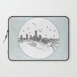 Austin, Texas City Skyline Illustration Drawing Laptop Sleeve