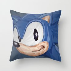 Triangles Video Games Heroes - Sonic Throw Pillow