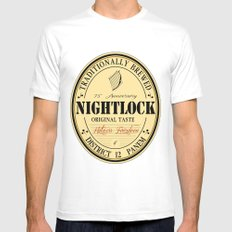 Lovely day for a Nightlock White MEDIUM Mens Fitted Tee