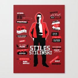 Stiles Stilinski Quotes Teen Wolf Canvas Print