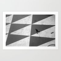 Lonely man Art Print