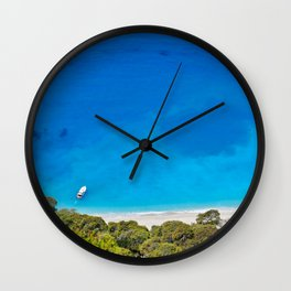 The incredible colors of the beach Egremnoi in Lefkada, Greece Wall Clock