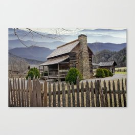 Appalachian Mountain Cabin Canvas Print
