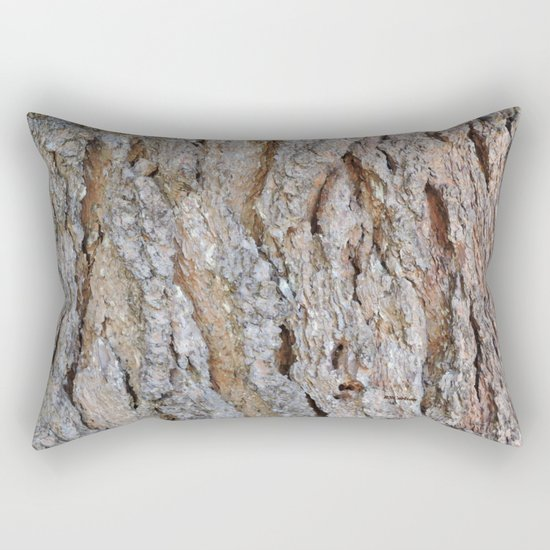 TEXTURES -- Big Cone Pine Bark Rectangular Pillow