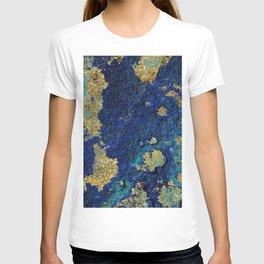 Indigo Teal and Gold Ocean T-shirt