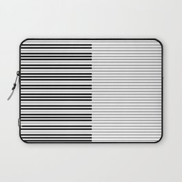 The Piano Black and White Keyboard with Horizontal Stripes Laptop Sleeve