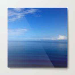 Where Water Meets Sky... | Blue Water and Sky Horizon | Landscape Metal Print