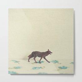 Wandering Wolf Metal Print