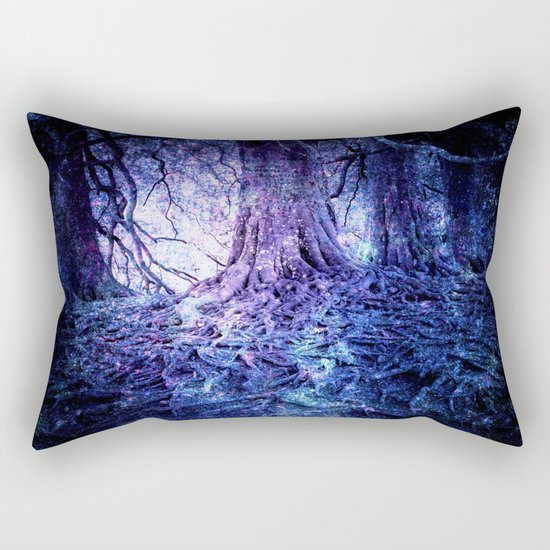 The Wishing Tree : Purple Blue Rectangular Pillow