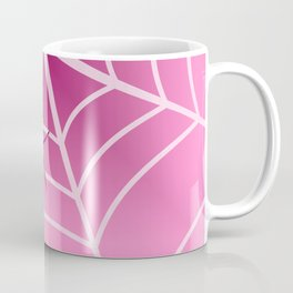 Spider web in pink Coffee Mug