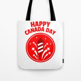 Happy Canada Day Fireworks  Tote Bag